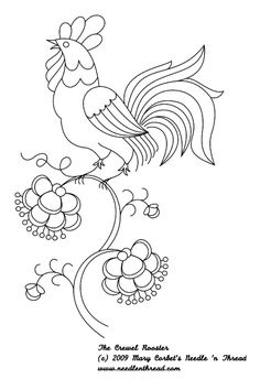 Mosaic Rooster | Printable rooster patterns The Fate Chain