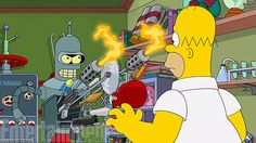 Here's your first look at the Futurama/Simpsons crossover episode