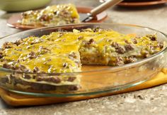 Green Chile Casserole---Green chiles add extra spark to this easy-to-make casserole that features ground beef, tortillas, a creamy sauce and lots of cheese.