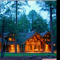 Love log cabins! My dream home.