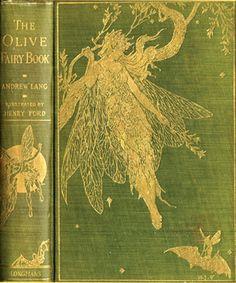 Vintage, Green, Fairy Book.