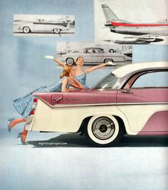 1950's custom guitars, 1950s car, inspiration, vintag fashion, automobil advertis, mobiles, retro, pools, 1950 jador