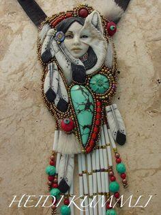 nativ american, american art, beadwork, beauti bead, bead wonder, heidi kumm, necklaces, jewelri, nativ pictur