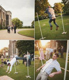 Outdoor Wedding Reception- limbo