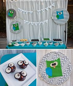 adorable owl baby shower