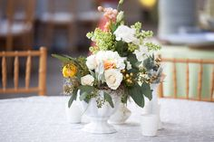White Centerpiece #weddingflowers #whitewedding #whiteflowers Photography By / http://nancyrayphotography.com,Event Planning   Design By / http://rebeccaroseevents.com