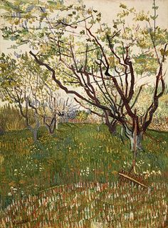The Flowering Orchard, 1888. Vincent van Gogh, Oil on canvas