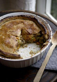 Vegan 'chicken' pot pie.