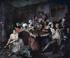 1732, William Hogarth: Rake´s Progress
