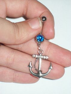 Anchor Belly Button Ring :)