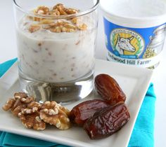 Best new breakfast! Moroccan Goat Yogurt with Dates and Preserved Lemon | Shockingly Delicious.com  #goatyogurt #breakfastrecipe #healthybreakfast #different