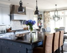 Traditional Blue Cabinets Design, Pictures, Remodel, Decor and Ideas - page 7