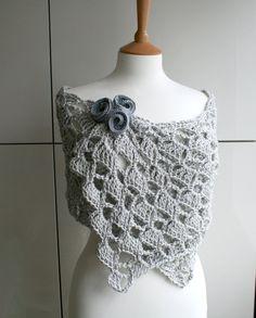 Crochet pattern, Summer Evening wrap crochet pattern (145)