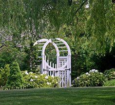 Classic moon gate from designer Elaine Johnson.