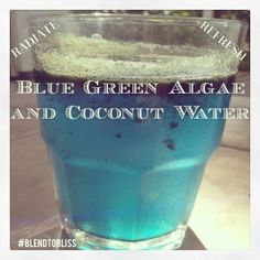 Incredible Color!!! Blue Green Algae and Coconut Water! Ingredients:  1 Teaspoon of Blue Green Algae, 16 Oz. of Coconut Water  How To Make:      Step 1⃣ Add a teaspoon of Blue Green Algae into a glass with the Coconut water, stir and enjoy! This delivers a pleasant refreshing and energizing Alkaline beverage packed with Vitamin B12 and electrolytes. I find myself having one of these almost every day and absolutely love it!