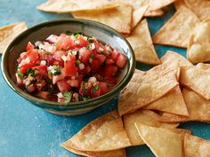 Salsa and Chips Recipe : Food Network Kitchen : Food Network - FoodNetwork.com