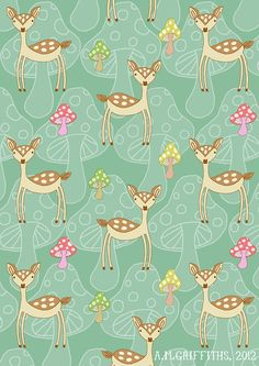 Never done a repeat pattern before so I thought I'd have a go. The deer is part of an animal alphabet I'm doing at the moment, so i will hopefully upload some pics soon.