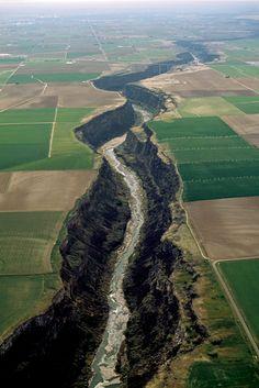 The Snake River and canyon near Twin Falls, Idaho