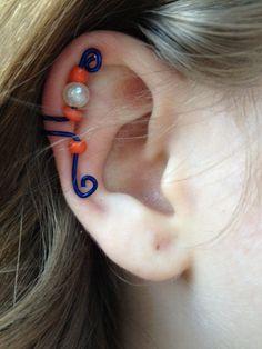 University of Florida Gators Ear Cuff. $5.00, via Etsy.