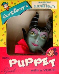 Maleficent vintage puppet.