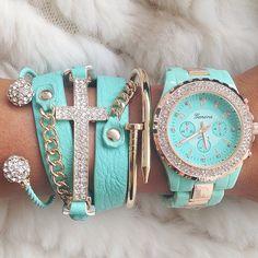 light blue, woman fashion, color, accessori, bracelets, tiffany blue, baby blues, arm candies, blue aqua