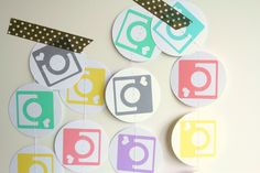 Instagram garland - camera photo booth prop - party decor. via Etsy.