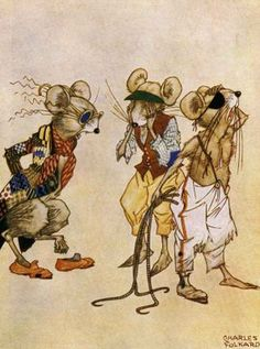 Charles Folkard - 3 blind mice