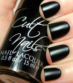"""Cult Nails """"Fetish"""" (A hot rubber finish!) looks like leather <3"""