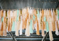 Fringe reception decor | photos by Annie McElwain | 100 Layer Cake