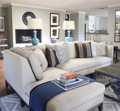 sectional sofa & placement ideas