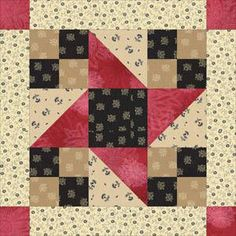 ~ Framed Friendship Stars Quilt Block Pattern.  Using 10 1.2 inch blocks to make the hst blocks and 5 1.2 inch squares to make the 4 patch , 5 1.2 inch strips for borders.  Easy, quick baby quilt
