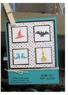 Stampin Up Tee-hee-hee stamp set card for Halloween #stampinup #halloween #cardmaking #papercrafts