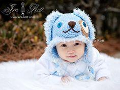 Handmade Crochet Puppy Dog Hat for Boys and Girls www.irarott.com