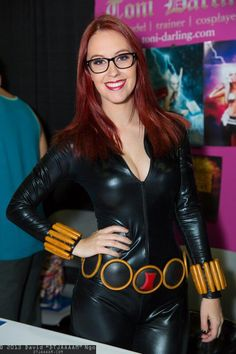 Black Widow (with glasses) by @Megan Ward Maxwell Turney | Comikazi 2013