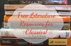 Free #Literature Resources for Great Classics!- fun and educational free #homeschool resources