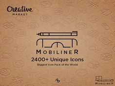 Check out Mobiliner 2400+ Icons by alpercakici on Creative Market