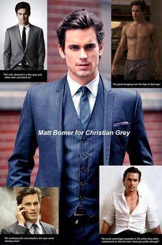 Matt Bomer for Christian Grey!