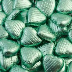 Mint Green Wedding Favour Chocolates