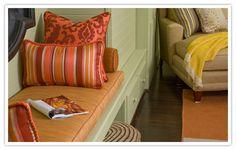 cottag idea, 2012 color, outdoor living, home accessories, fun varieti, outdoor live, throw pillow, tangerin tango