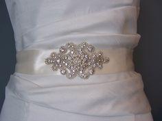 Bridal Sash Beaded Sash   Wedding Dress  Sash by BridalbyVanessa wedding dressses, dress sash