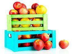 Reutilizando as caixas da fruta