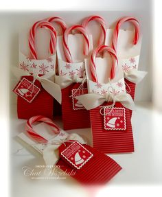 Stampin' Up! Christmas  by Char Wsezlaki: petite pockets candy canes