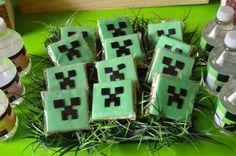 Minecraft COOKIES from a Vintage Minecraft Party found via Kara's Party Ideas | KarasPartyIdeas.com
