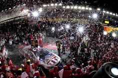 KevinHarvick celebrating his Coca Cola600 win - May 26, 2013