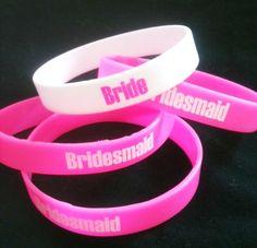 Bridal Party Wrist Bands. $1.00, via Etsy.