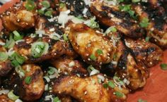 Chipotle Honey-Glazed Chicken Wings with Toasted Sesame Seeds and Green Onions