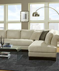 Elena Leather Sectional Sofa Living Room Furniture Sets & Pieces