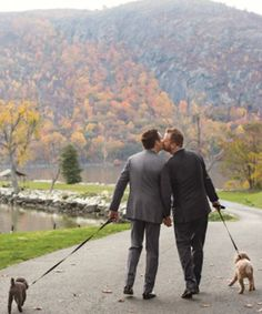 The story of how these two grooms met is SO adorable