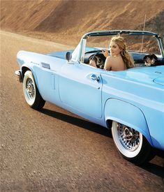 baby blue convertable