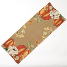 Croft and Barrow Pumpkin Tapestry Table Runner